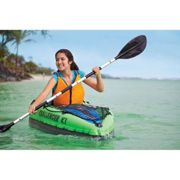 1 Man Inflatable Canoe Kayak with Oars and Pump