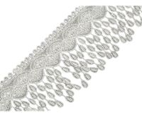 1 Off White, 13.5m Guipure Lace Trim With Tassels Width 80mm Guipuretrims Embroidered And Madeira Haberdashery