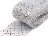 1 silver, 28m Diamond Crinoline Horsehair Braid Width 4cm (soft) And French Veils Milliner Necessities Haberdashery