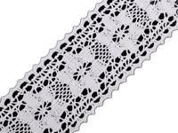 1 white, 13.5m Cotton Bobbin Lace Width 50mm And Linnen Trim Madeira Haberdashery