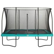 £100 FREE ACCESSORIES - 12ft x 8ft Salta Green Rectangular Comfort Edition Trampoline with Enclosure