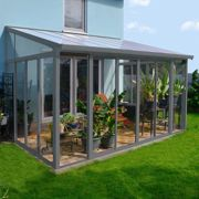 10'x14' Palram SanRemo Grey Lean-To Conservatory