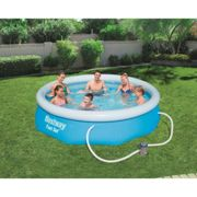 """(10'X30"""") BestWay Fast Set Swimming Pool Round Inflatable Above Ground With Filter Pump"""