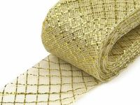 12 gold lt., 28m Diamond Crinoline Horsehair Braid Width 4cm (soft) And French Veils Milliner Necessities Haberdashery