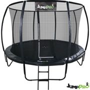 12ft JumpPRO™ Black Round Trampoline with Enclosure