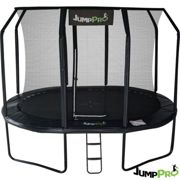 12ft x 8ft JumpPRO™ Black Oval Trampoline with Enclosure