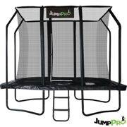 12ft x 8ft JumpPRO™ Black Rectangular Trampoline with Enclosure