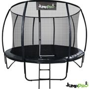 14ft JumpPRO™ Black Round Trampoline with Enclosure