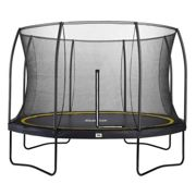 14ft Salta Black Round Comfort Edition Trampoline with Enclosure - Includes Free Ladder