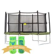 14ft Super Tramp Super Bouncer Trampoline with Enclosure - With FREE Ladder