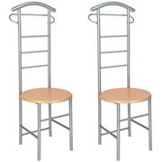 2 clothes racks valet stand - silver