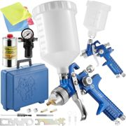 2 HVLP paint spray guns (1.0+ 1.7 mm) + silicone remover - blue