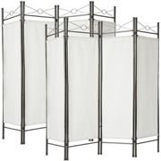 2 room dividers paravent - white