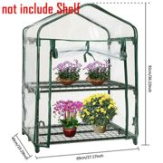 (2 Tier - 69*49*92cm) 2/3/4/5 Layer Greenhouse Covers PVC Outdoor Garden Steel Frame Plants Grow House