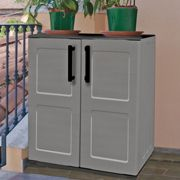2'2 x 1'2 Shire Mid Plastic Garden Storage Cupboard with Shelves (0.68m x 0.37m)