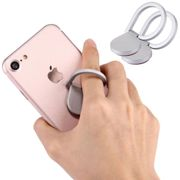 2x Huawei Honor 8x Max Finger-grip holder Silver Plastic