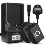 2x Replacement DMW-BMB9E Battery Pack and LCD Smart Charger Set for Panasonic Lumix DC-FZ82 Camera