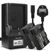 2x Replacement LP-E6 LP-E6N Battery Pack and LCD Smart Charger Set for Canon EOS 5D Mark IV Camera
