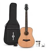 3/4 Size Acoustic Travel Guitar Pack by Gear4music