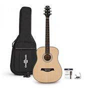 3/4 Size Electro Acoustic Travel Guitar Pack by Gear4music