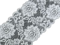 3 white, 13.5m Elastic Lace Width Stretch And Madeira Haberdashery