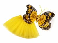 3 yellow, 1set Party Costume - Butterfly Fairy Carnival Accessories Kids Decorations