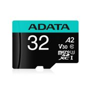 32GB AData Premier Pro microSDHC CL10 UHS-I U3 V30 A2 Memory Card with SD Adapter