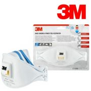 3M Aura 9322+ Flat Fold Particulate Respirator Dust Mask With Embossed Top Panel