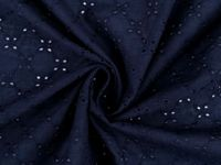 4 blue dark, 1m Cotton Madeira With Embroidered Flowers Fabric And Fabrics
