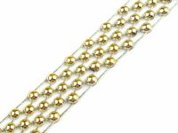 4 gold, 9m Imitation Pearl Trimming Width 14mm Garlands And Trimmings Various Decorations