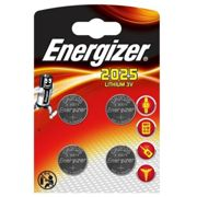 Energizer Button Cell Batteries CR2025 3V Lithium Pack of 4
