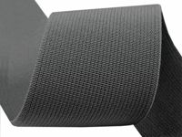 4006 Charcoal Gray, 25m Woven Coloured Elastic Tape Width 50mm Knit Haberdashery