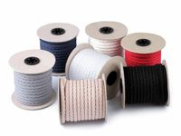 4022 grey, 10m Cotton Twisted Cord / String Ø9mm Macrame Decoration Crafts Cords And Strings Haberdashery