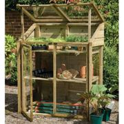 4'x2' Forest Wooden Small Mini Lean To Greenhouse