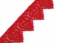 5 red strawberry, 13.5m Lace Applique Sewing Trim Width 35mm Guipuretrims Embroidered And Madeira Haberdashery