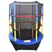 """55"""" Junior Trampoline Set 4.5FT With Safety Net Enclosure Kids Outdoor Toy - Blue"""