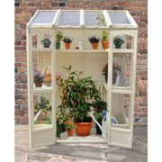 5'x2' Forest Cofton Wooden Small Wall Lean To Mini Greenhouse (1.5x0.6m)