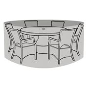 6-8 Seater Round Table & Chairs Cover - Premium Polyester