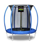 (6 Feet - 183cm, Blue) 6ft 8ft 10ft 12ft 14ft 15ft 16ft Moxie Pumpkin-Shaped Large Outdoor Trampoline Set with Premium Top-Ring Frame Safety Enclosure