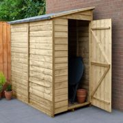 6' x 3' Forest Epping Overlap Pressure Treated Windowless Pent Wooden Shed (1.83m x 1.09m)