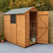 6' x 4' Forest Delamere Shiplap Dip Treated Apex Wooden Shed (1.89m x 1.34m)