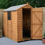 Forest 6X4 Value Overlap Dip Treated Apex Shed - Shed Only One Colour