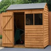 6' x 4' Forest Kielder Overlap Dip Treated Reverse Apex Wooden Shed (1.88m x 1.34m)
