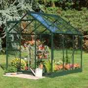 6'4x6'5 Green Frame Halls Popular 66 Small Greenhouse