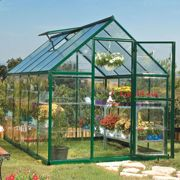 6'x10' Palram Hybrid Walk In Green Polycarbonate Greenhouse