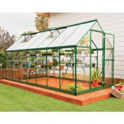 6'x14' Palram Hybrid Large Walk In Green Polycarbonate Greenhouse