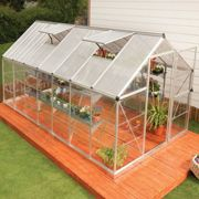 6'x14' Palram Hybrid Large Walk In Silver Polycarbonate Greenhouse