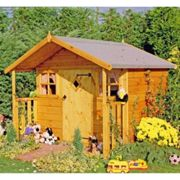 6x5'6 Shire Cubby Traditional Kids Wooden Playhouse