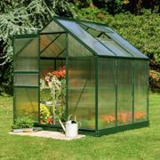 6'x6' Halls Green Frame Polycarbonate Greenhouse