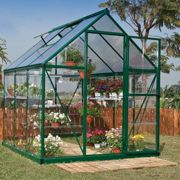 6'x6' Palram Hybrid Small Green Polycarbonate Greenhouse